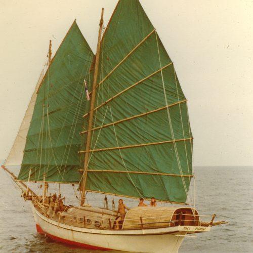 Naga Pelangi, maiden journey, Terengganu to Pulau Kapas, 1981