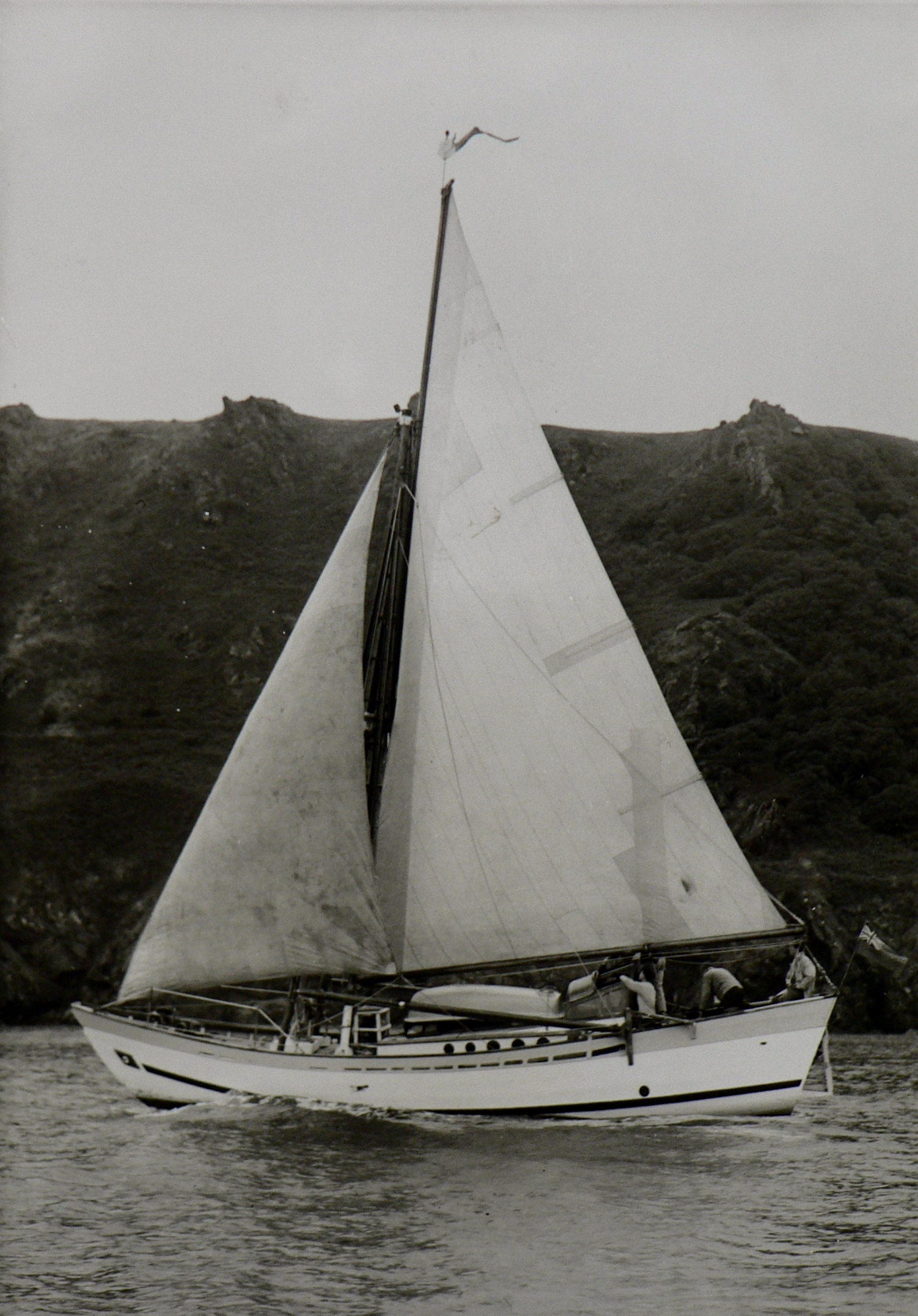 Boleh in 1961 - signature Dragon Pennant at the peak